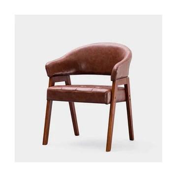 HQQ Chaise de Salle à Manger en Bois Massif Nordic Chair étude Table à Manger et Chaise Combinaison Bureau Chaise en Cuir accoudoir Minimaliste Moderne Chaise Longue (Couleur : Red)