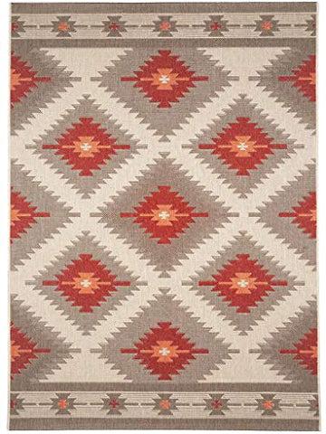 benuta Tapis, Fibres synthétiques, Rouge, 160x230 cm