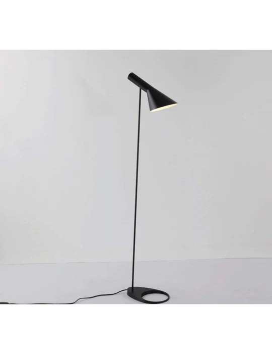 XDLDD Arne Poulsen Lampadaire en Métal Simple Lampadaire E27 Noir/Blanc Lampara De Pie Lampadaires pour Salon Country House Bar,Black,
