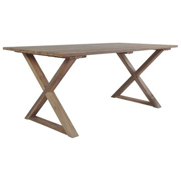 honglianghongshang Mobilier de Jardin Tables de Jardin Table de Salle à Manger Teck de récupération 180x90x76 cm