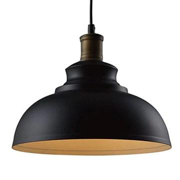 BAYCHEER Suspensions Abat-jour en Métal Style Rétro Industriel Lustre Luminaires Eclairage Decoratif (A)