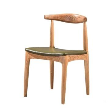 BYTGK Chaise de salle à manger Tulip avec pieds rembourrés en bois massif naturel et design contemporain (Color : GREEN)