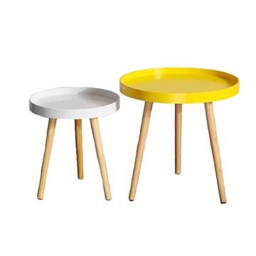 Xudongliu Petite Table Basse Petite Table Ronde Mini Mobile Coin Quelques canapés Côté Chambre À côté du lit Salon Moderne Creative Simple Table Basse