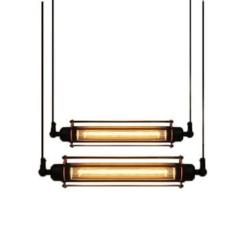 BXL 2 × Suspension Suspension Industrielle Vintage Lustre FlûTe Rustique Plafonnier RéTro Luminaire pour Restaurant Couloir Café Chambre à Coucher éTudier Pub Club
