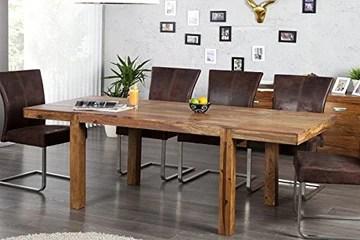 DuNord Design Arona Table à Manger Extensible en Bois de Palissandre Massif Jusqu'à 200 cm