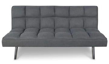 PEGANE Canapé de lit Coloris Gris - H 80 x P 57 x L 180 cm