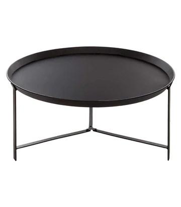 Table basse Teeco - 38,5 x 75 cm - Fer - Noir