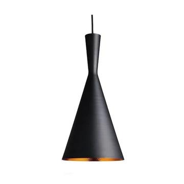 Asvert Suspension Luminaire Industrielle Vintage Noir Eclairage Rétro Lampe Suspension Nordique Moderne Lustre Plafonnier Abat-Jour Métal Edison E27 pour Loft Bar Salle à Manger Cuisine Salon