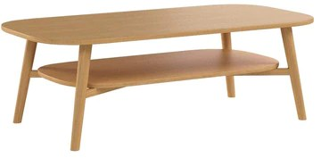 HOMIFAB Table Basse scandinave 120x60x40 cm chêne - Collection Marcel