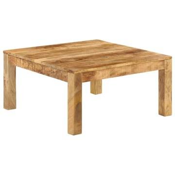 vidaXL Bois de Manguier Massif Table Basse 80x80x40 cm Meuble Table de Séjour
