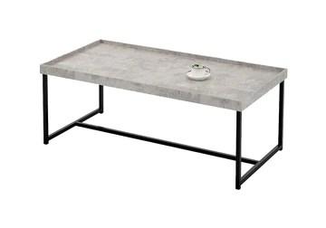 Meubletmoi Table Basse rectangulaire 120 cm - Pied métal - Plateau Effet Beton - Style Industriel Contemporain - Luna 120