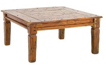 PEGANE Table Basse en Bois d'acacia - Dim : L 90 x P 90 x H 40 cm