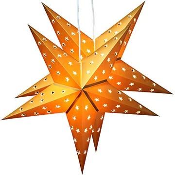 BRUBAKER Étoile de Noël pliée - Lot de 2 - Chacune avec 10 LED - 60 cm Ø