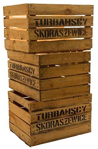 Kistenkoli Altes Land Lot de 3Ã'grosses caisses àfruits Ã'Â«Ã'TSÃ'Ã'» caisses àvin ou àpommes en bois Shabby Vintage by Kistenkolli Altes Land