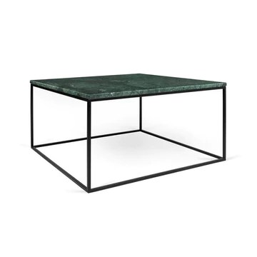 Tema Home Table Basse rectangulaire Gleam 50 Plateau en marbre Vert Structure Noire