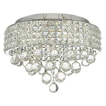 SPARKSOR 9 lumières G9 moderne élégant rond plafonnier suspendu luminaire lustre en cristal