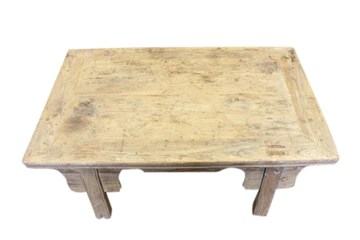 Luxury-Park Asia la Chine Table Basse Antique env. 120 Ans Bois Naturel