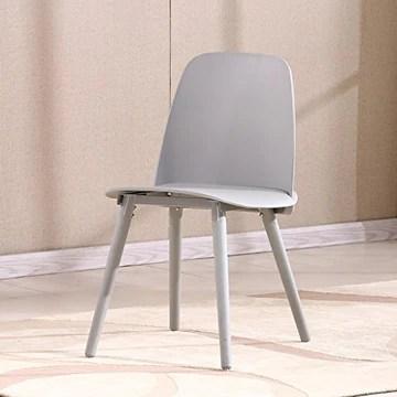 Chaise de salle à manger chaise de salle à manger design chaise de loisirs Nordic couleur chaise de chaise de café de personnalité créative (Color : Gray)
