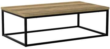 [en.casa] Table Basse Moderne Plateau MDF Pieds de Table en Épingle à Cheveux Bois 110cm x 65cm x 35cm