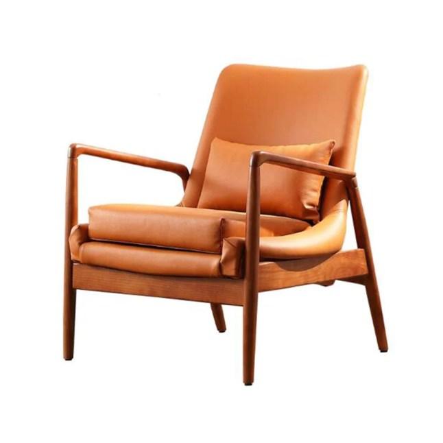 YQQ-Sofa Paresseux Fauteuil Simple Et Moderne Chaise De Balcon Chaise Longue Salon Chaise Simple Vintage Moderne Chaises en Cuir PU (Color : A)