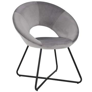 Duhome Chaise Salle à Manger en Tissu (Velours) Gris Chaise de conférence réception sélection de Couleur Design Excellent avec Pieds en Metal 439D