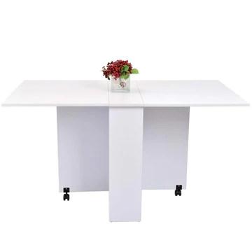 Table de cuisine salle a manger pliable amovible tres pratique en panneaux de particules