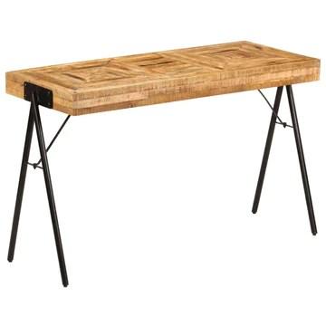 tidyard Table à Écrire Bois   Table de Bureau   Table Informatique Style Industriel en Bois de Manguier Massif 118 x 50 x 75 cm