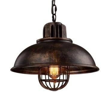HUATI Lustre décoration de la personnalité de la famille Chandelier Industriel Vintage Pendentif Lumière-Rouille Lampe en Métal avec Grills Loft Style EFRA-8452