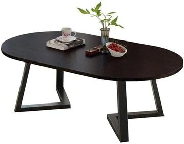 Y-CJ Table d'appoint Moderne de Salon de Table Basse en Bois Ovale pour Petits espaces, Meubles de Salon, Table pour Espace d'attente, Tables d'extrémité 100x50x45cm
