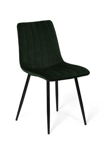 La Chaise espagnole Denia Chaise, Tissus, Vert Bouteille, 44 cm (Largeur) x 55 cm (Profondeur) x 88,5 cm (Hauteur)