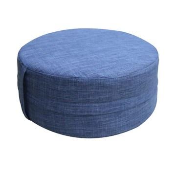 Italian Concept 101 Pouff Lindon, polyuréthane et Tissu, Bleu, 50 x 50 x 20 cm