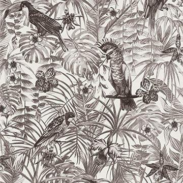Papier peint perroquet noir & blanc 372105   Papier peint noir et blanc 37210-5   Papier peint jungle intissé vinyle   Papier peint salon & chambre