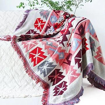 GRENSS Tapis Kilim pour canapé Salon Chambre à Coucher Tapis canapé Teint Couverture Rose Motif Ethnique Turque,Tapisserie Couvre-lit 120x180CM