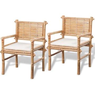 vidaXL Jeu de mobilier de jardin 5 pièces en bambou Ensemble Salon de jardin terrasse