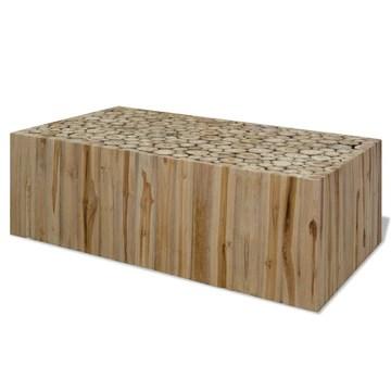 Luckyfu ce Table caffsono en véritable Bois de Teck 90 x 50 x 35 cm.Design Unique et moderno. Table de café Table Basse
