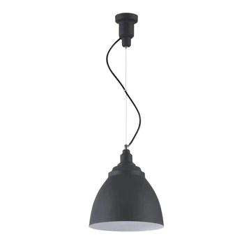 Suspension Design, 1 Lampe, Style moderne, Loft, Armature en Métal couleur noir, abat-jour fait en Métal couleur noir, 1 ampoule, excl. 1 E27 60W 220-240V