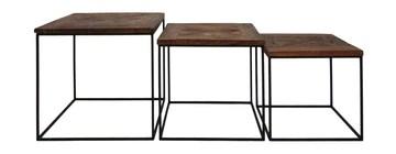 HSM Collection Table, Naturel/Noir, 50x50x50 / 45x45x45 / 40x40x40