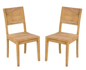 Main Möbel Lot de 2 chaises en Bois de Sheesham Massif
