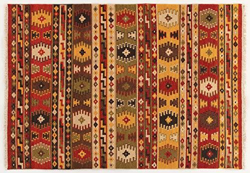 Kilim Carpets by Jalal Tapis Kilim Sivas 3 Rouge/Multicolore 160 x 230 cm