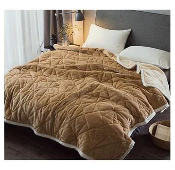 XCJ Couverture De Velours Peluche Couverture - Couverture De Lit Super Chaude - Couverture De Canapé Confortable Et Légère,Disponible dans Une Variété De Tailles (Color : Camel, Size : 200 * 230cm)