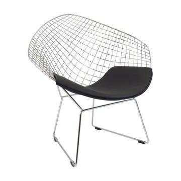 Vaukura Chaise BERTOIA Diamond - Chaise Design métallique (Plusieurs Couleurs)