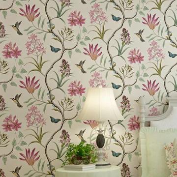 LianLe Papier Peint Forêt Mystique Fleurs Oiseaux Papillons Wall Papper Décoration Mural,A