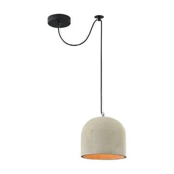 Suspension Design, 1 Lampe, Style moderne, Armature en Métal couleur gris, abat-jour en ciment, pour la Cuisine, le Salon, le Séjour, bureau, sale a manger, 1 ampoule, excl. 1 E27 40W 220-240V