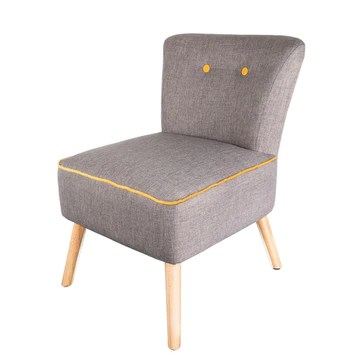 THE HOME DECO FACTORY Fauteuil Bicolore - H. 72 cm - Jaune et Gris