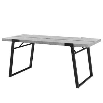[en.CASA] Table de Manger Table de Salle à Manger Table de Cuisine Table de Bureau 180cm x 80cm x 77cm MDF furniert et Acier revêtu par Poudre Effet béton