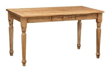 Biscottini Table Non Extensible Style Rustique en Bois Massif Finition de tilleulul Noyer L140xPR80xH80 cm