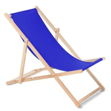 GreenBlue Fauteuil de plage pliant en hetre classique Lit de plage (bleu foncé)