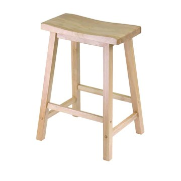 Winsome Wood Selle Tabouret, Bois Dense, Naturel, 24