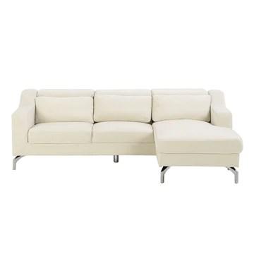 Canapé d'angle en Velours Beige GLOSLI
