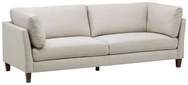 Marque Amazon - Rivet Midtown - canapé moderne à coussins amovibles, 234 cm, Crème